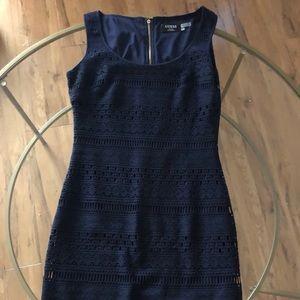 Navy crochet dress